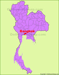 Bangkok Location In World Map by Bangkok Location On The Thailand Map