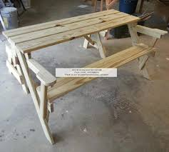 Wooden Folding Picnic Table Plans by Convertible Folding Picnic Bench Table Woodchuckcanuck Com