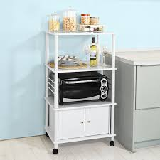 Shelf Kitchen Cabinet Amazon Com Haotian Microwave Shelf Mini Shelf Kitchen Appliances