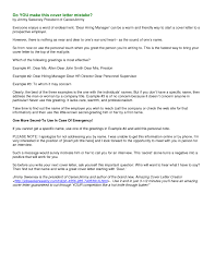 How To Title Resume How To Write A Good Cover Letter Effective Cover Letter For