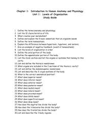 Anatomy And Physiology Chapter 1 Review Answers Name Date Anatomy U0026 Physiology Homework 1 U2013 The Language Of