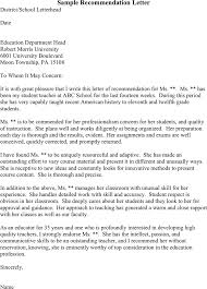 Three Sample Recommendation Letters  Sample Recommendation Letter TidyForms