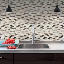 Backsplash Tile For Kitchen Peel And Stick Decorations Home Depot Stick On Backsplash Lowes Peel And Stick