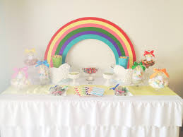 Background Decoration For Birthday Party At Home Rainbow Party Backdrop Rainbow Unicorn Party Kids Party