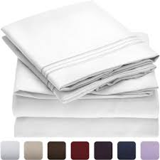 amazon com mellanni bed sheet set brushed microfiber 1800