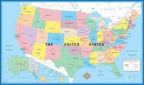 Colored World Map by World U0026 Usa Educational Beginners Level K 4 Wall Map Set