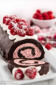 raspberry chocolate swiss roll spend pennies