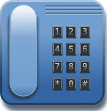Blue Phone clip art vector