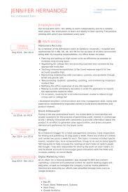 Admissions Recruiter Resume Samples VisualCV