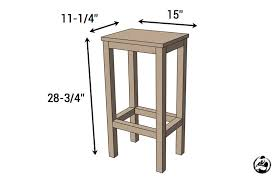 Diy Simple End Table by Easiest Bar Stools Ever Free Diy Plans Rogue Engineer