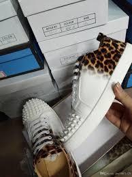 red bottom luxury designer cut top leopard print skate sneakers
