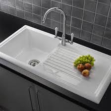 Reginox White Ceramic  Bowl Kitchen Sink With Mixer Tap At - Ceramic white kitchen sink
