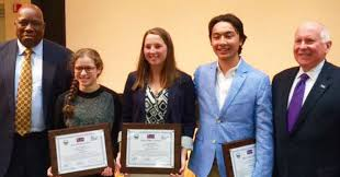 TEAM Westport presented this year     s awards in its annual teen diversity essay contest at a recent Westport News
