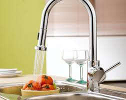Wall Mount Kitchen Sink Faucet Single Handle Wall Mount Kitchen Faucet With Spray Hose Pull Out