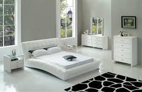 Bedroom Exquisite Image Of Modern Bedroom Decoration Using White - White tufted leather bedroom set