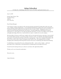Examples Of A Cover Letter For A Job  resume cover letters  format     happytom co