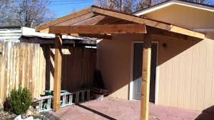 Outdoor Patio With Roof by Building A Patio Cover Patio Cover Install Part 2 Youtube