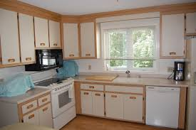 Small L Shaped Kitchen Kitchen Designs Antique White Cabinets With Cherry Island Small
