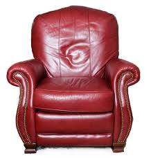 bradington young red leather recliner ebth