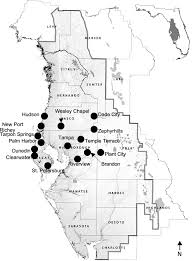 Map Of Clearwater Florida Environmental And Economic Risks From Sinkholes In West Central