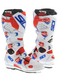 motocross boot straps sidi red white blue crossfire 2 srs mx boot sidi