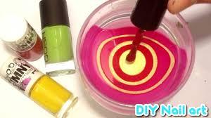 diy nail art water marble tutorial red u0026 gold whirls
