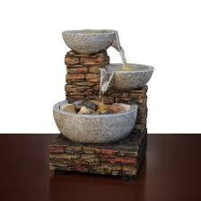 Home Decor Springfield Ma Essential Home Cascading Brick Bowl Led Fountain