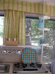 Pop Up Camper Interior Ideas by Shower Curtain Rod For Storage In Pop Up Camper Picture Borrowed