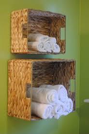 bathroom popular wall mounted towel rack baskets for small popular wall mounted towel rack baskets for small bathroom storage ideas using woven rattan