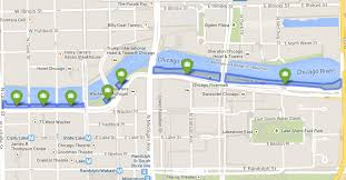 Chicago Line Map by Chicago Riverwalk Map Map Of Riverwalk Chicago United States Of