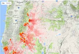 Oregon Map by Oregon Smoke Information Oregon State Smoke Forecast For Tuesday