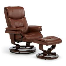Leather Rocker Recliner Swivel Chair Furniture Luxurious Leather Swivel Recliner Chair And Ottoman For