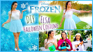 diy frozen elsa halloween costume easy and affordable youtube