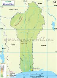 Physical Map Of Africa by Map Of Benin