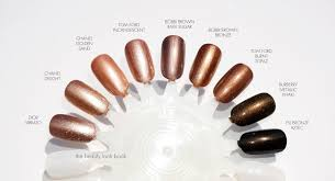 color focus bronze and metallic nail lacquers the beauty look book