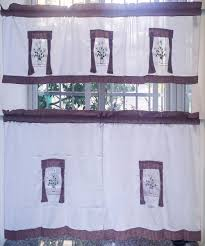 country style kitchen curtains and valances window treatments