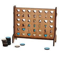 personalized hearts four across game connect 4 uncommongoods