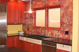 Glass Kitchen Backsplash Kitchen Delightful Glass Kitchen Backsplash White Cabinets Tile
