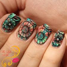 musings of the wife of a jedi floral nail art with born pretty