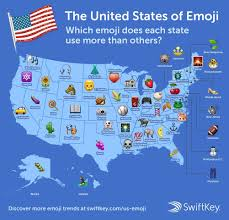 United States Map Delaware by The Most Beloved Emoji In Every State In One Crazy Map Business