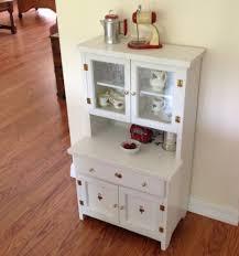 Furniture Kitchen Cabinet Vintage Child U0027s Play Kitchen Cupboard Hutch Wood Step Back