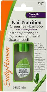 sally hansen nail nutrition green tea bamboo nail strengthener