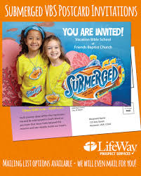 submerged vacation bible 2016 postcard invitation lifeway