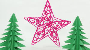 Home Made Decoration by Diy Christmas Star Ornament Craft With Thread Homemade Christmas