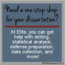 Elite Research Statistical Consulting   Dissertation Services