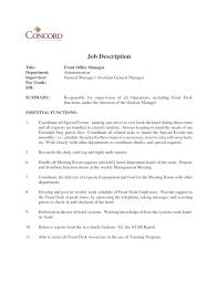 Front Desk Hotel Cover Letter Usps Job Description Resume Cv Cover Letter