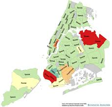 Zip Code Map Brooklyn by Nyc Non English Language Maps Business Insider