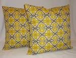 OUTDOOR Two Yellow & Grey Geometric Indoor/Outdoor by HomeLiving