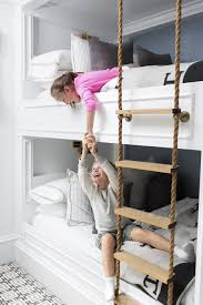 Steal This Look Rope Ladder Bunk Bed Family Living  Lonny - Ladder for bunk bed