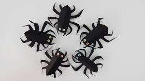 halloween decoration spiders diy papercraft spider party table